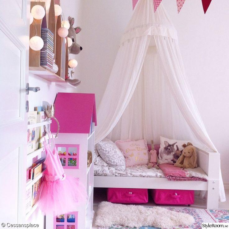 barnrum,matta,filt,sänghimmel,kuddar