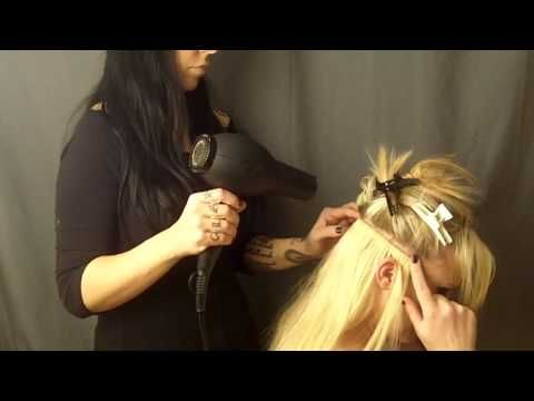 hair extensions: how to glue in full head hair extension