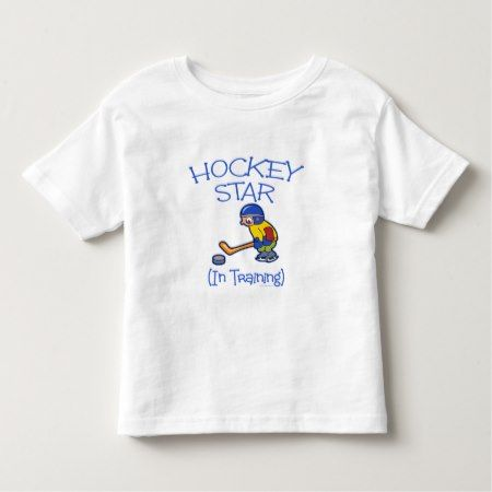 Hockey Sport Kids Hockey Star In Training Toddler T-shirt - tap, personalize, buy right now!