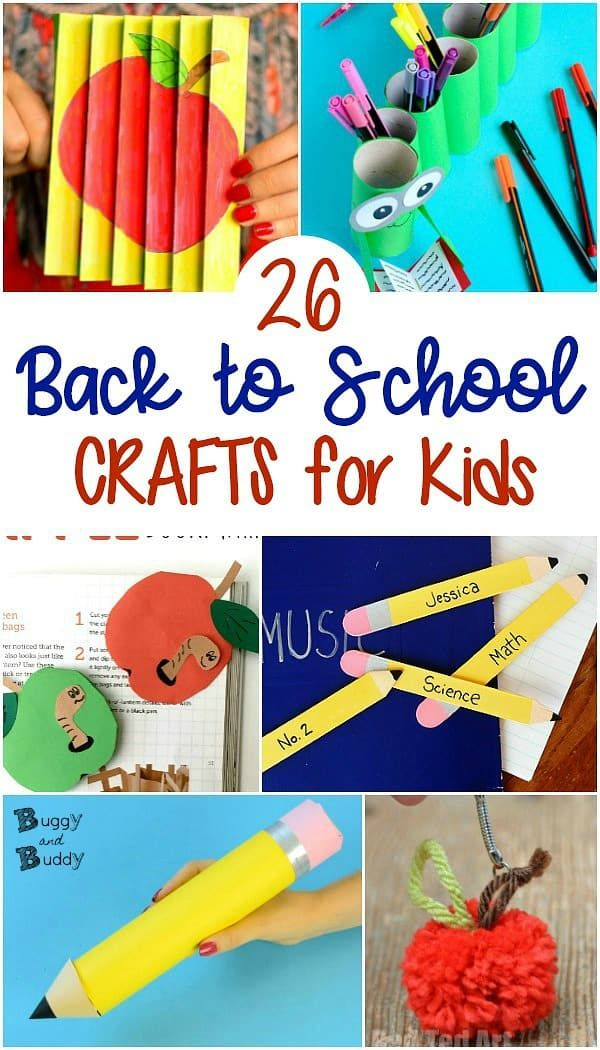 25 Back To School Crafts For Kids With Images Back To School