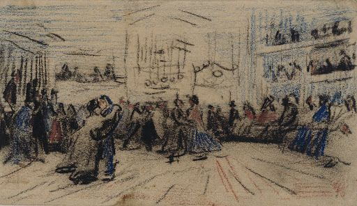 Vincent Van Gogh, Couple Dancing, 1885, chalk on paper, @vangoghmuseum, Amsterdam #dance
