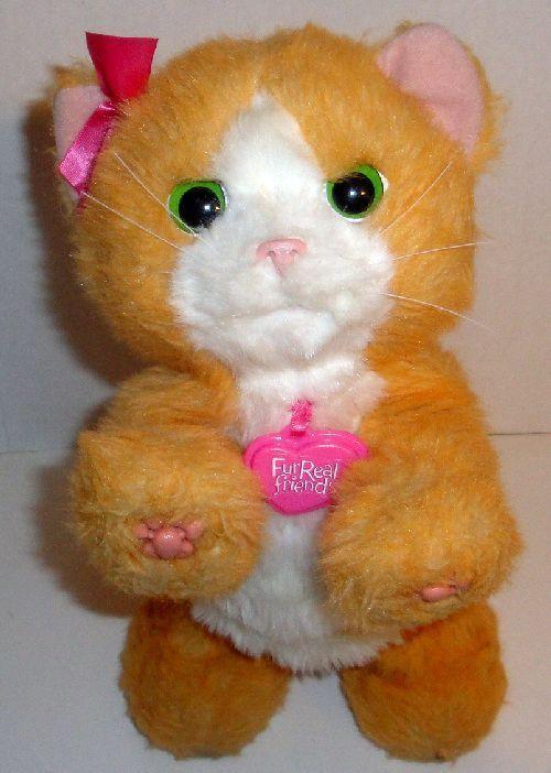 HASBRO FURREAL FRIENDS PLAY WITH ME DAISY ORANGE KITTY CAT INTERACTIVE PET TOY #Hasbro