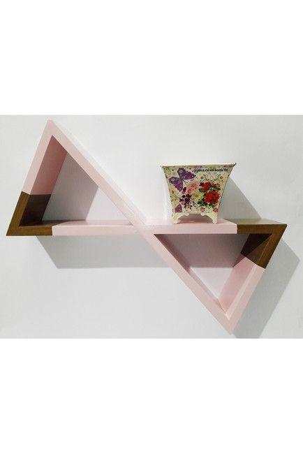 Image of MG DECOR X-Hour Glass Wall Decor - Pink/Natural