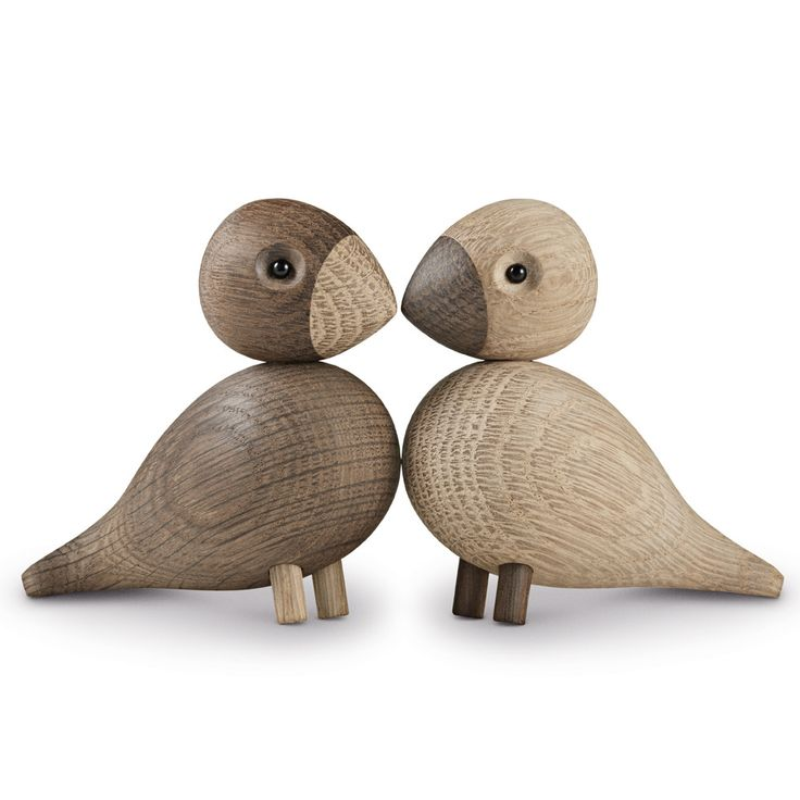 Kay Bojesen Lovebirds turtelduer