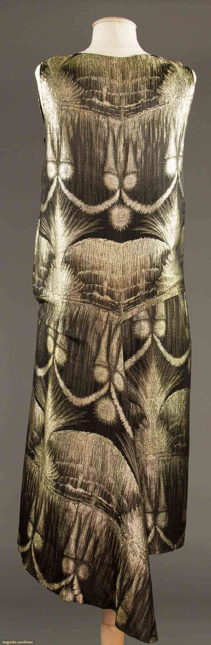 late -1920s Deco lame Evening dress (view 4)