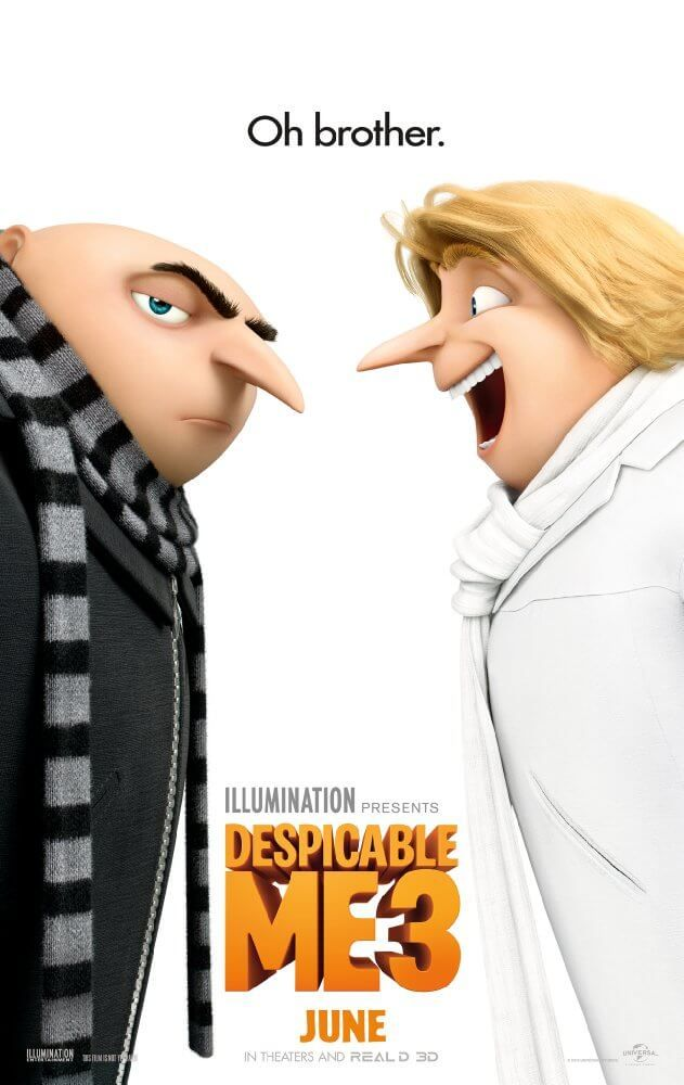 http://ift.tt/2tmWhRB  Download in HD  Stream in HD  Despicable Me 3 Storyline  After he is fired from the Anti-Villain League for failing to take down the latest bad guy to threaten humanity Gru finds himself in the midst of a major identity crisis. But when a mysterious stranger shows up to inform Gru that he has a long-lost twin brother-a brother who desperately wishes to follow in his twin's despicable footsteps-one former super-villain will rediscover just how good it feels to be bad…