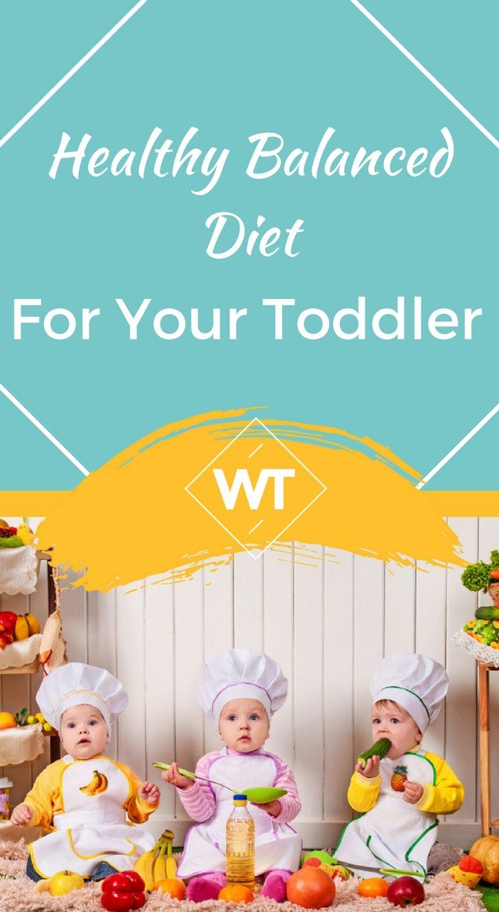 A balanced diet for toddlers