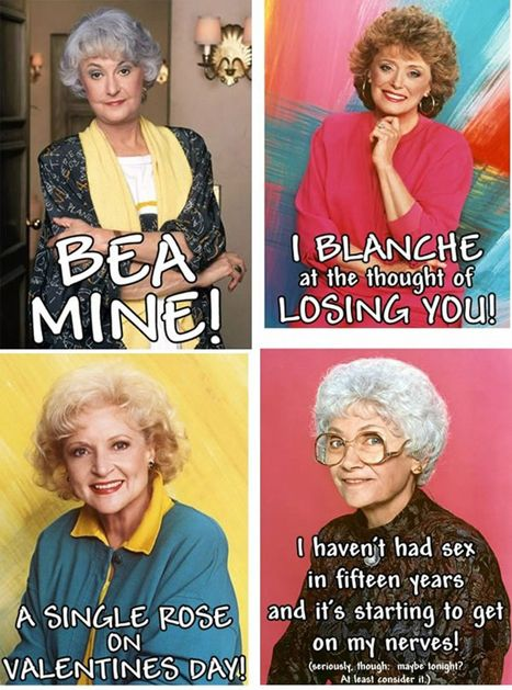 Valentines: Holiday, Funny, Valentines Day, Girls Valentines, Card, The Golden Girls, Goldengirls, Valentine S