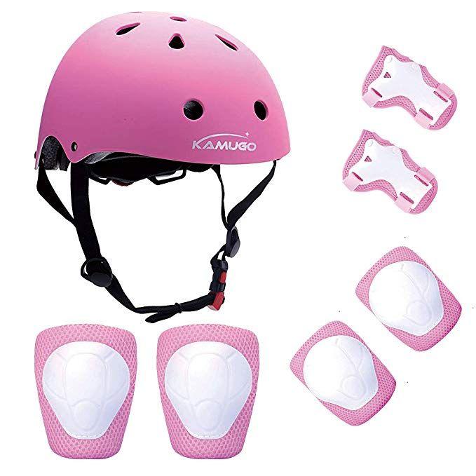 Kamugo Kids Helmet Knee Pads For Kids 3 8 Years Toddler Helmet