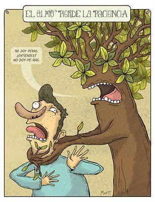 """""""Pedir peras al olmo"""", por Alberto Montt."""