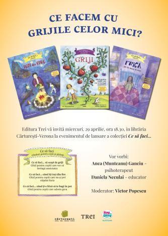 Ce facem cu grijile celor mici? O noua colectie de carti educative pentru copii. #lansaredecarte