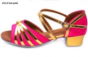 latin dance shoes professional #113 hot pink