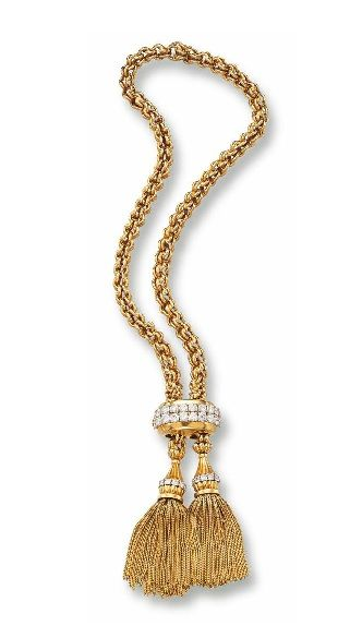 Gold and Diamond Tassel Necklace, Van Cleef & Arpels, 1945                                                                                                                                                                                 Más