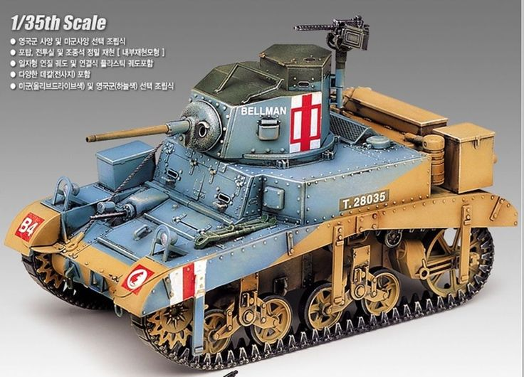 "British M3 Stuart ""Honey"" 1/35 Academy plastic model kit /military #Academy"