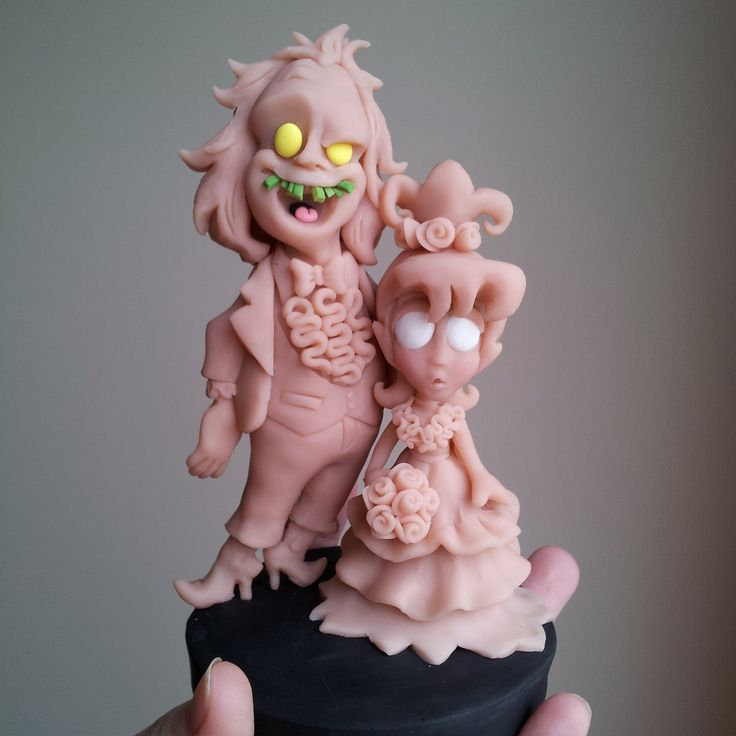 WIP: Beetlejuice And Lydia Cake Topper | I Do Cake Toppers