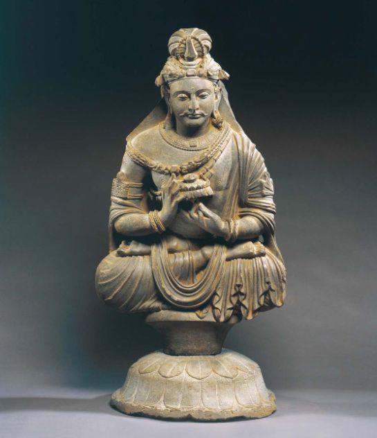 3rd century, Gandhara, bodhisattva Avalokiteshvara Padmapani, schist, private collection