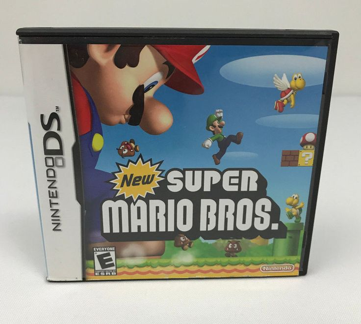 New Super Mario Bros. (Nintendo DS) Lite DSi XL 3DS 2DS COMPLETE Case Manual CIB