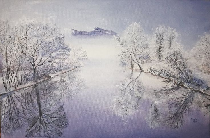 Freezing winter, oil by NotOKFun on DeviantArt