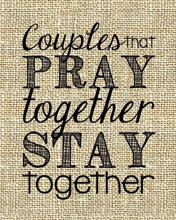 Couples that PRAY Together STAY Together - Perfect engagement gift, wedding gift or house warming gift