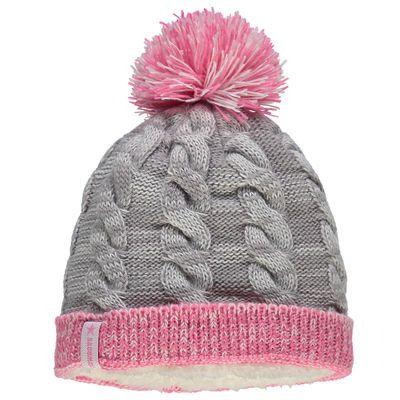 Dallas Cowboys New Era Girls Youth Snug Cuffed Knit Hat With Pom - Gray