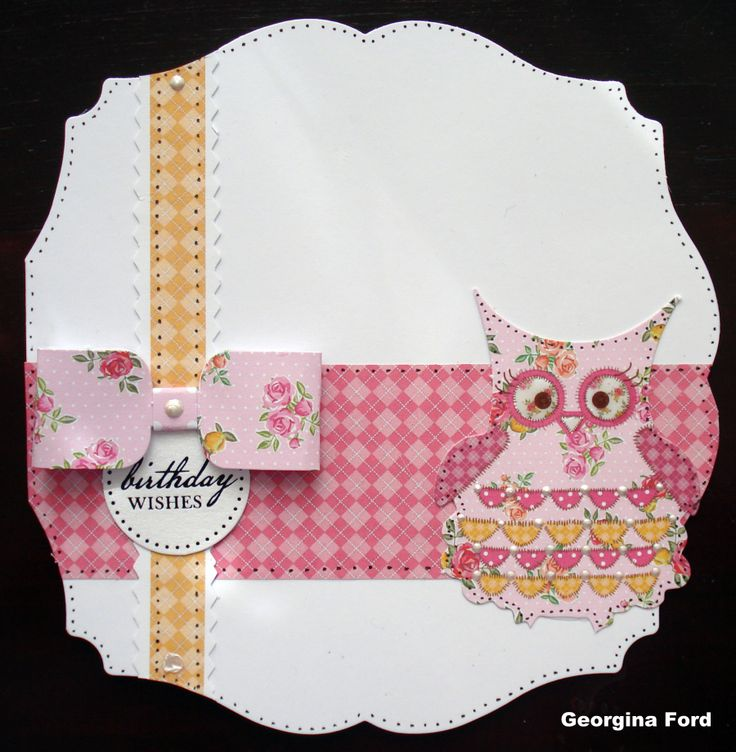 Card using Craftwork Cards Kitsch collection.