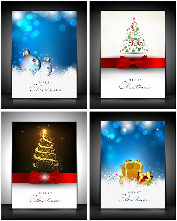 Backgrounds For Christmas Cards Vector