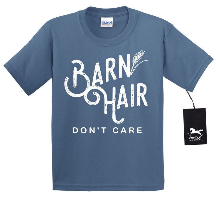 Youth Barn Hair Don't Care T Shirt | Equestrian | Horse T Shirt | Country | Farm Girl | Barn Life | Unisex Youth T Shirt by HorseDoodles on Etsy https://www.etsy.com/listing/491455039/youth-barn-hair-dont-care-t-shirt
