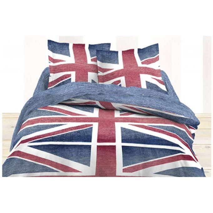 Ajoutez une touche england votre chambre coucher for Housse de couette drapeau