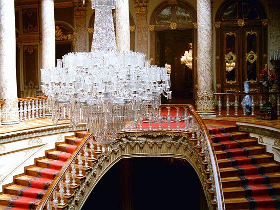 Escalier de cristal du palais Dolmabahçe Turquie