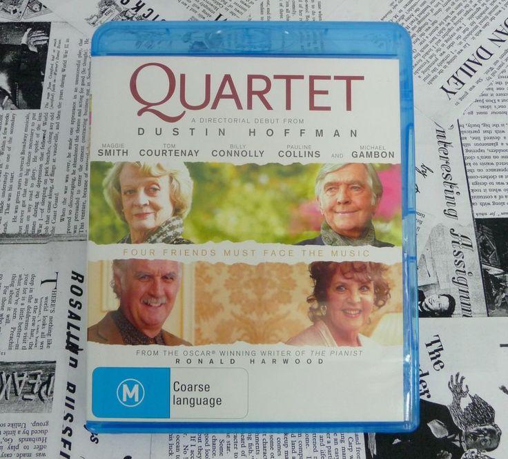 Quartet Blu-Ray DVD R4 Maggie Smith, Dustin Hoffman, Pauline Collins