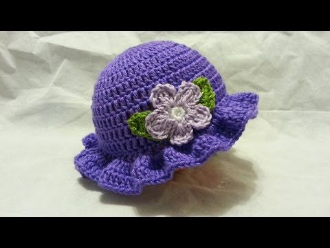 #Crochet Easy Ladies Spring time Hat #TUTORIAL HD #freecrochet - YouTube