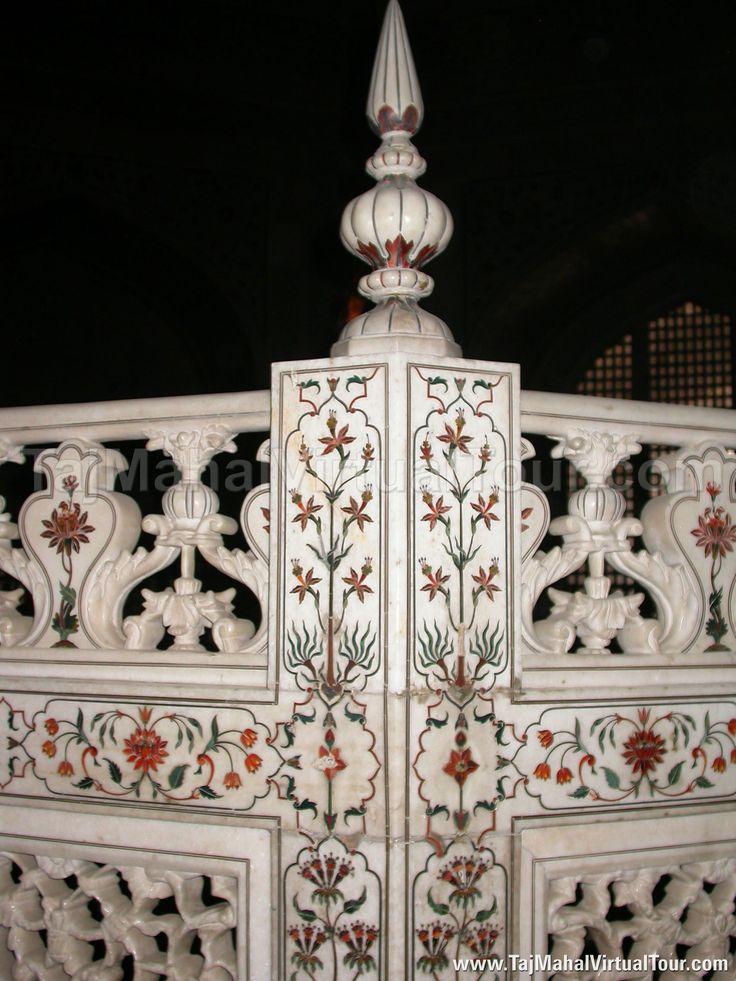Beautiful Stone Carving Inside Taj Mahal Mughal