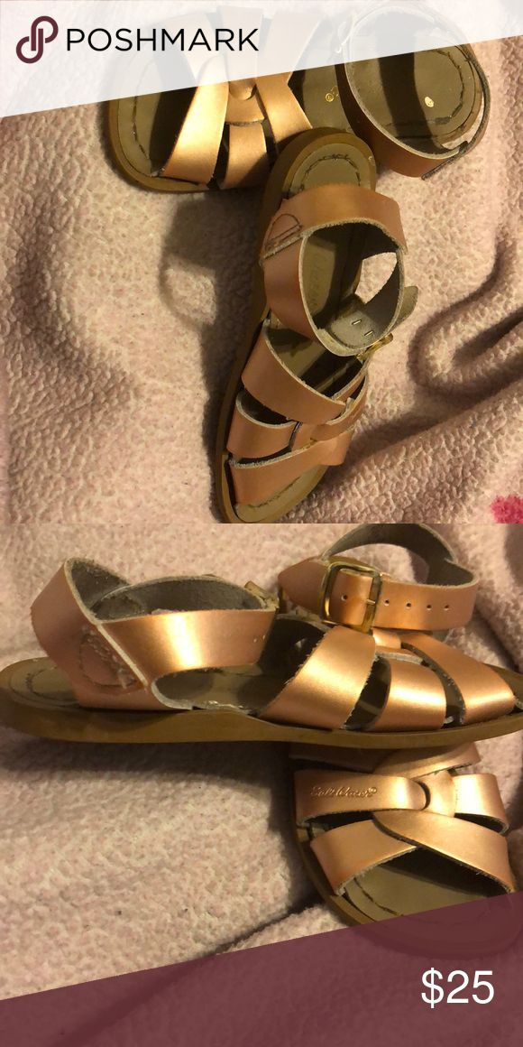 Rose Gold salt water sandals Spring/ Summer Ready Rose Gold Salt Water Sandals Salt Water Sandals by Hoy Shoes Sandals & Flip Flops