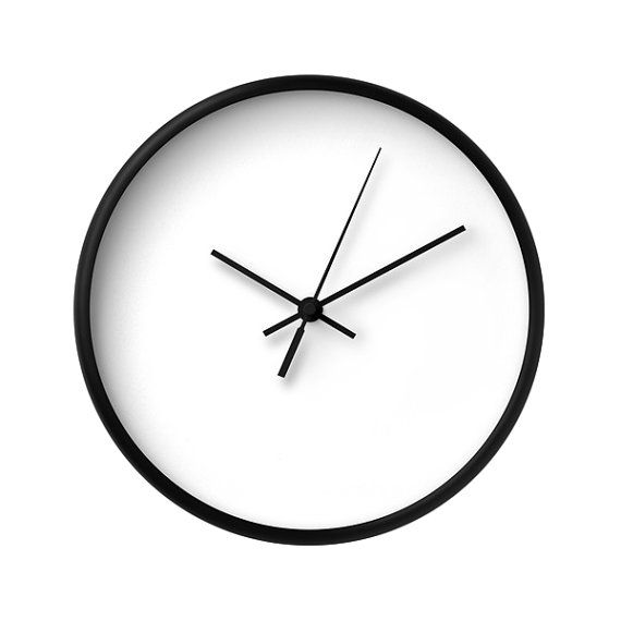 white wall clock classic wall clock modern wall clock home decor wall decor wood clock minimal neutral chic minimalist