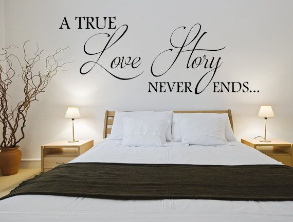 A True Love Story Never Ends Wall Decal Custom Wall Decals