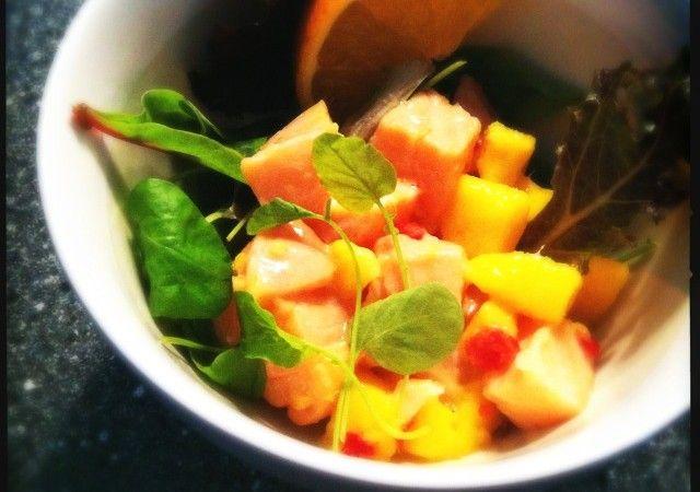 Ceviche van zalm met mango, kokos en gember   Francesca Kookt!