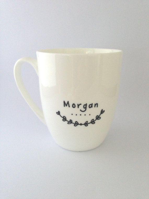 Personalized Name Mug by Rowemade on Etsy, $12.99