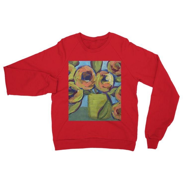"""Peaches and Green"" Heavy Blend Crew Neck Sweatshirt"