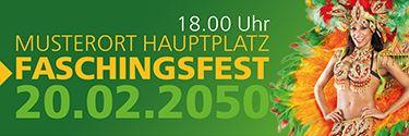 Stylische Eventbanner selbst erstellen und zusenden lassen #onlineprintxxl #bannerwerbung #werbebanner #mustervorlagen #muster #fasching