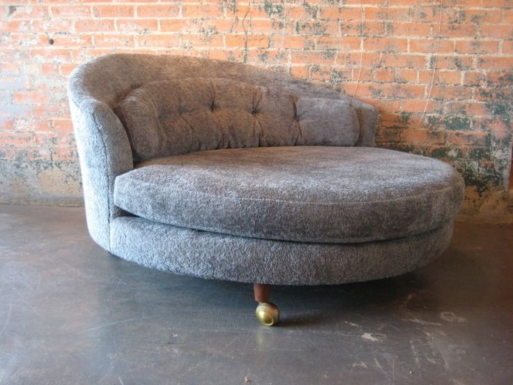 Groovy Round Chaise Lounge Chair Foter Round Swivel Chair Ibusinesslaw Wood Chair Design Ideas Ibusinesslaworg