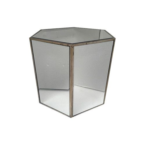 Found it at Wayfair.co.uk - Vintage Mirrored Hexagonal End Table