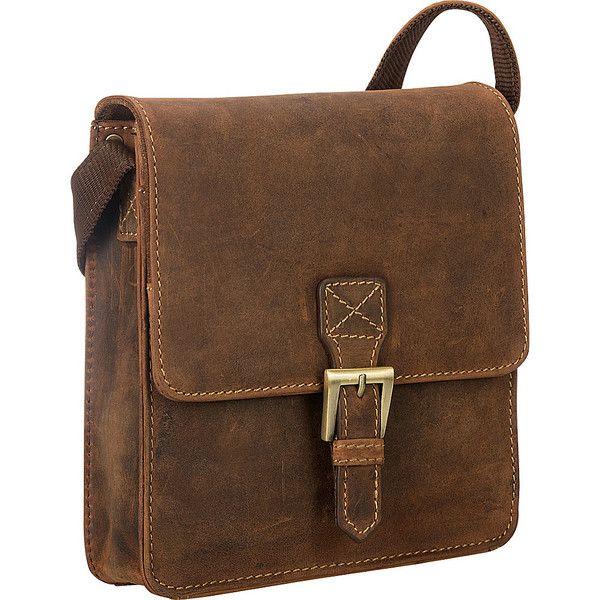 Visconti Modern Style Small Messenger Shoulder Bag - Oil Tan -... (4.170 RUB) ❤ liked on Polyvore featuring men's fashion, men's bags, men's messenger bags, messenger bags, tan, mens leather messenger bag and mens messenger bag