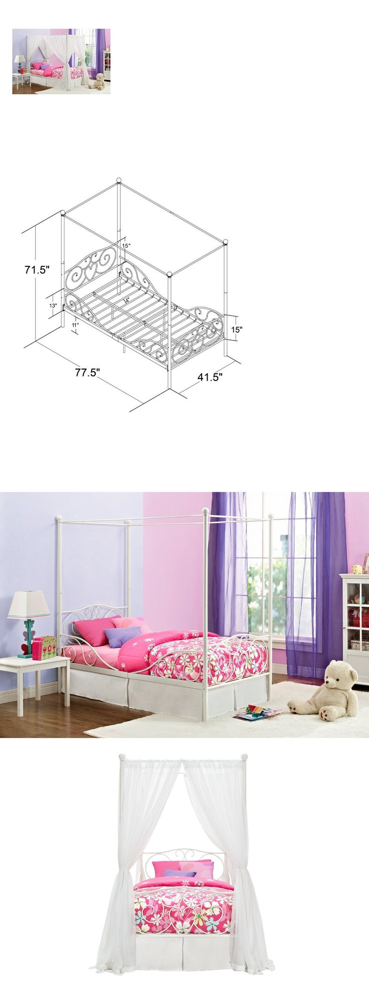 Best 20+ Girls canopy beds ideas on Pinterest | Canopy ...