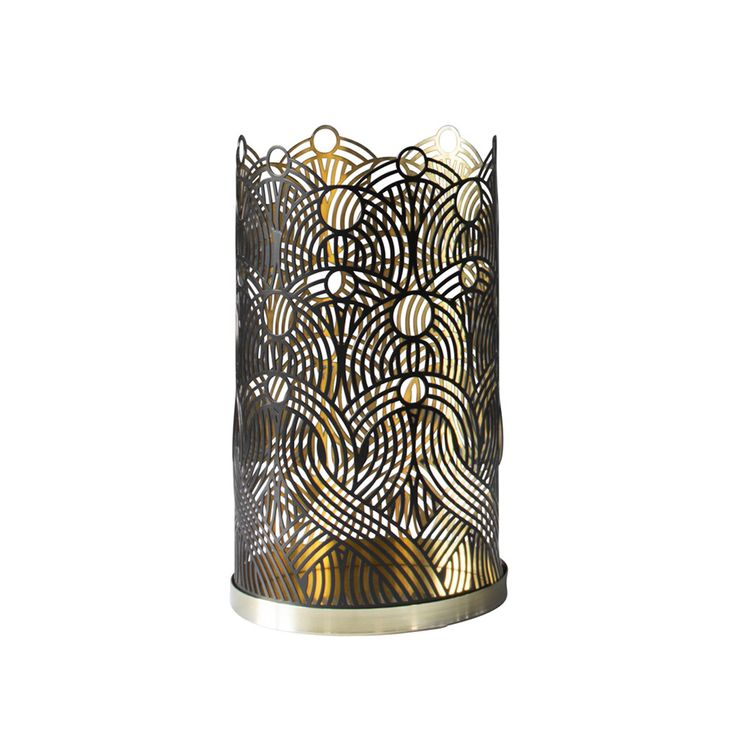 Add chic design to the home with this gorgeous London Collection candleholder designed by Lara Bohinc for Skultuna. Made from brass with beautiful cuttings inspired by travel, this stunning holder i