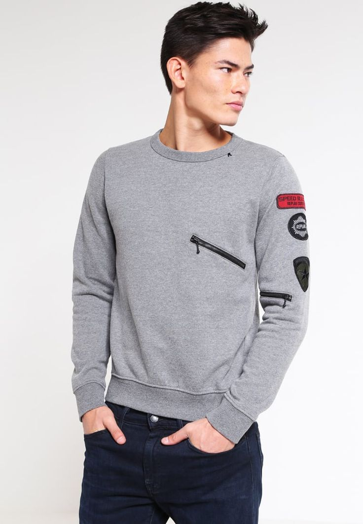 Replay Sudadera - melange grey - Zalando.es