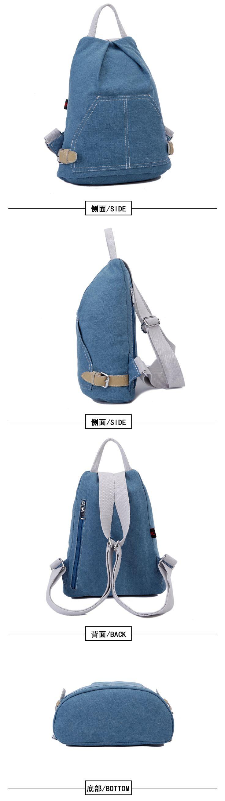 2015 yeni kanvas çanta küçük omuz çantası Koreli kadın gelgit rahat küçük taze kız üniversite öğrencisi sırt çantası paket - Taobao