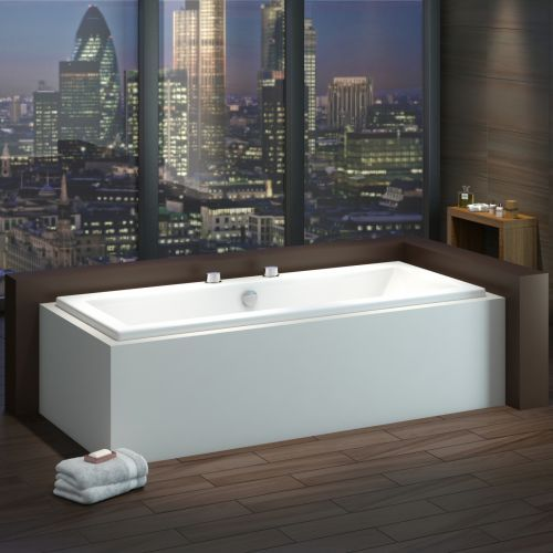 The Milano Channel double ended bath is a great option for a family bathroom