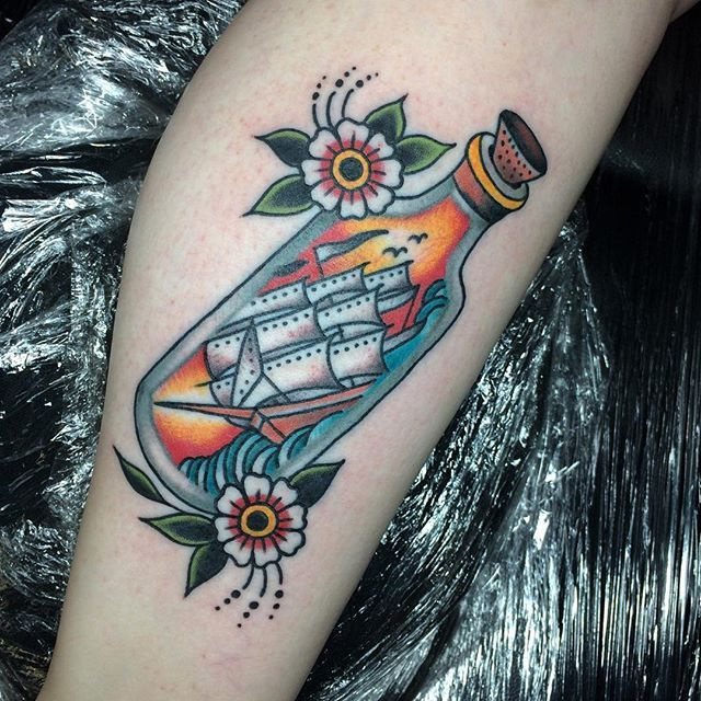 673 Best Images About In A Bottle Tattoos On Pinterest