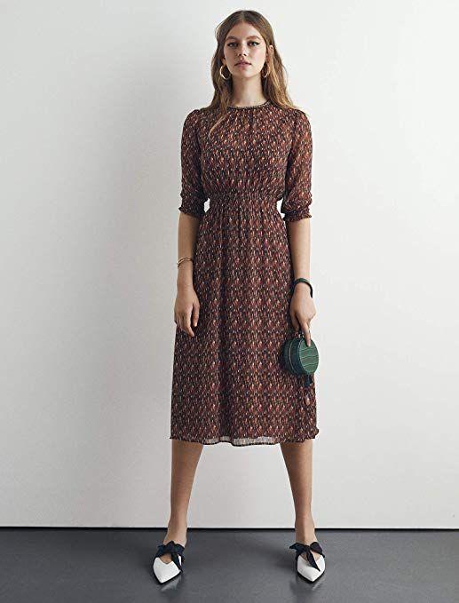 0435306aaf362 Koton Kadın Elbise, Kahverengi Desenli, 36 | Moda- Kadın-Elbise ...