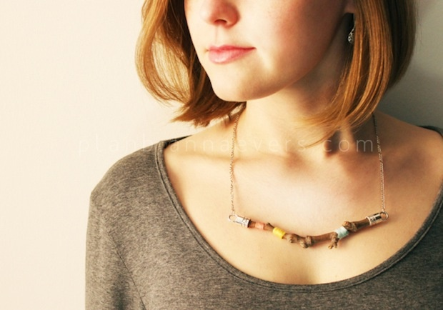 What a fun idea! A beautiful necklace from a stick!